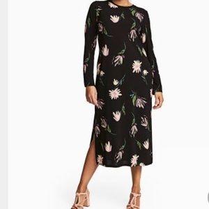 H&M Midi Side Split Floral Dress